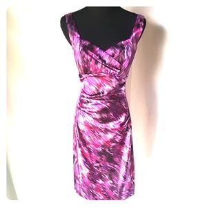 Stretchy multicolored dress, size 6